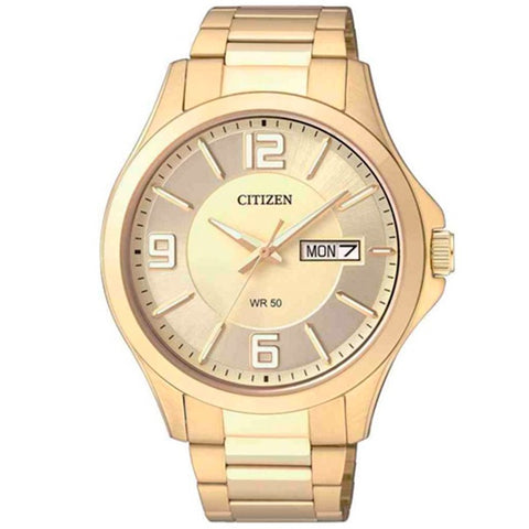 Citizen BF2003-50P Gold Dial Gold Men's Quartz Analog Dress Watch