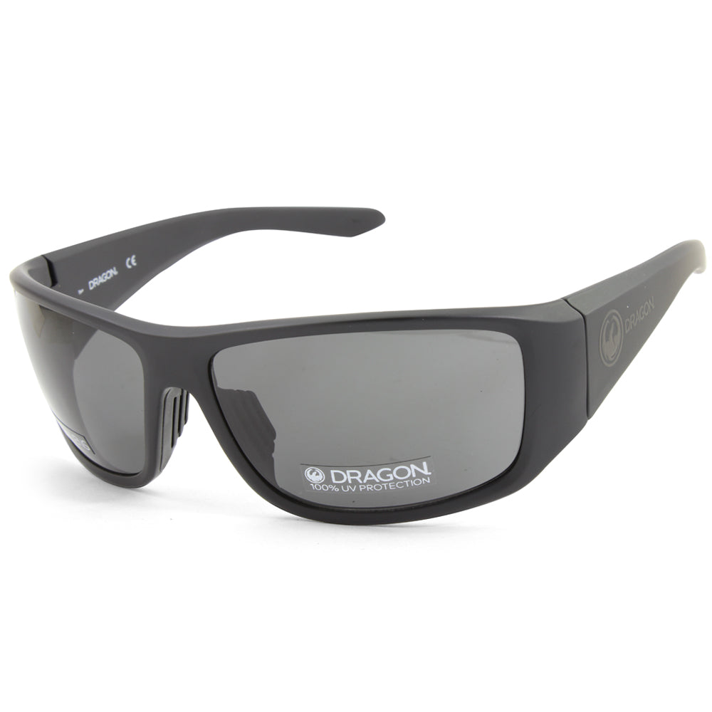 Dragon Jump LL 42367-002 Matte Black/Grey Men's Sports Wrap-around Sunglasses
