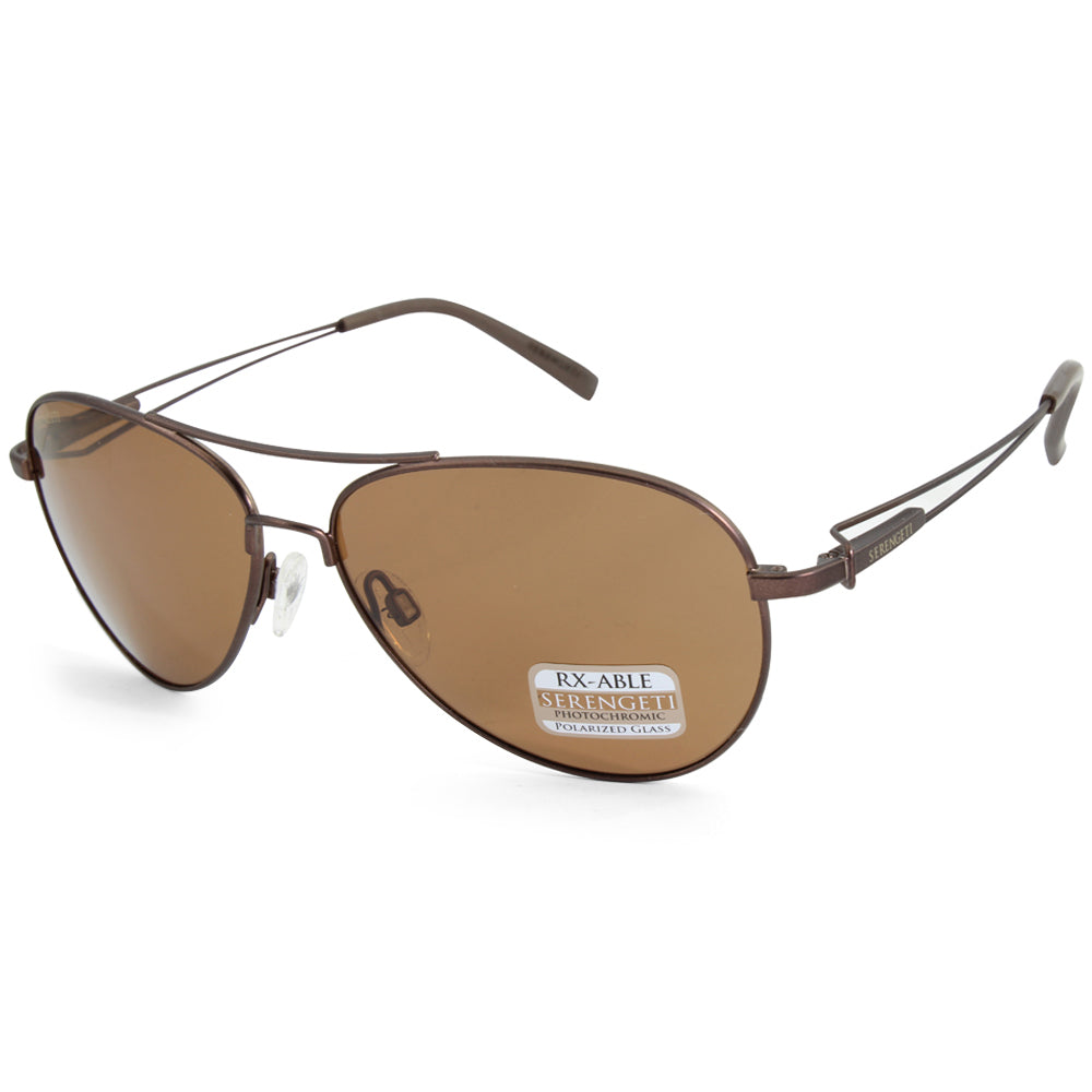 Serengeti Brando 7543 Matte Brown/Brown Drivers Polarised Photochromatic Men's Sunglasses