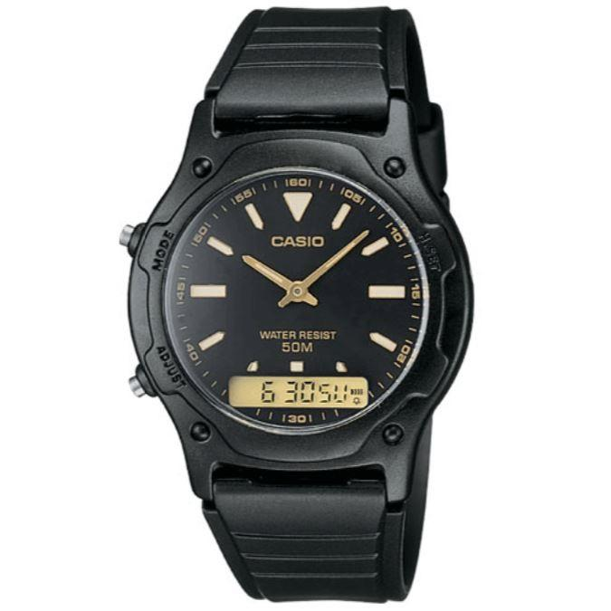 Casio AW-49HE-1 Black Dial Casual Unisex Analog-Digital Watch