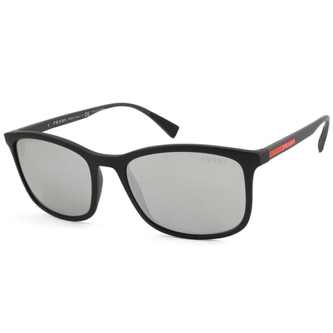 Prada Sport PS 01TS DG02B0 Matte Black/Grey-Silver Mirror Men's Sunglasses