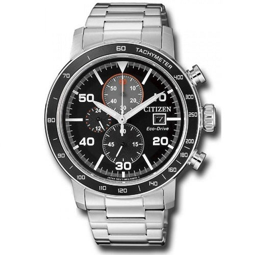 Citizen Eco Drive CA0641-83E Black Dial Stainless Steel Men's Chronograph Solar Watch