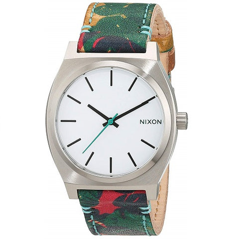 Nixon A0452280 Time Teller Palmade White Dial Stainless Quartz Watch