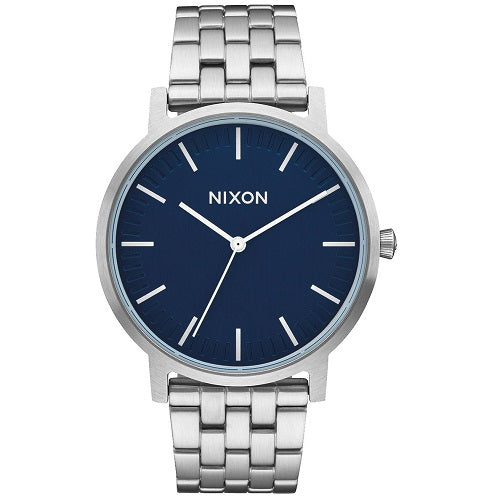Nixon A1057307 Porter Navy Blue Dial Stainless Men's Analog Watch
