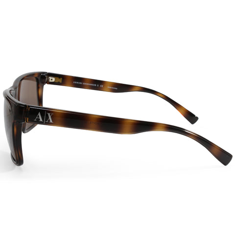 296cb710b951 ... Armani Exchange AX4016 803773 Polished Tortoise Brown Unisex Sunglasses  ...
