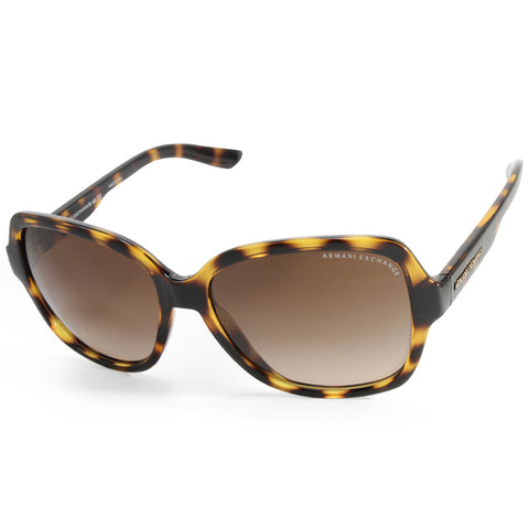 Armani Exchange AX4029S 811713 Polished Tortoise/Brown Women's Designer Sunglasses