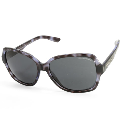 3c1c6bd22a29 Armani Exchange AX4029S 820687 Polished Grey Havana Grey Women s Sunglasses