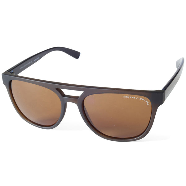 68e9156ca686 Armani Exchange AX4032 814473 Matte Black Brown Women s Sunglasses – xTrend