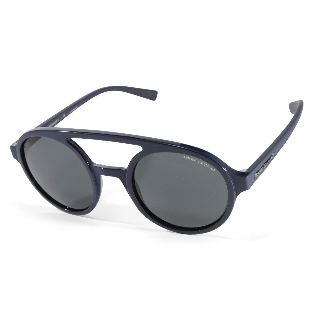 929581208792 Armani Exchange AX4060S 821287 Navy Grey Round Women s Sunglasses – xTrend