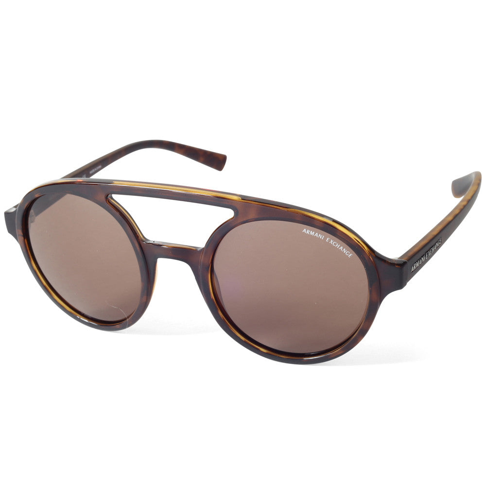 4ce2f8139249 Armani Exchange AX4060S 821373 Polished Tortoise Brown Women s Sunglas –  xTrend
