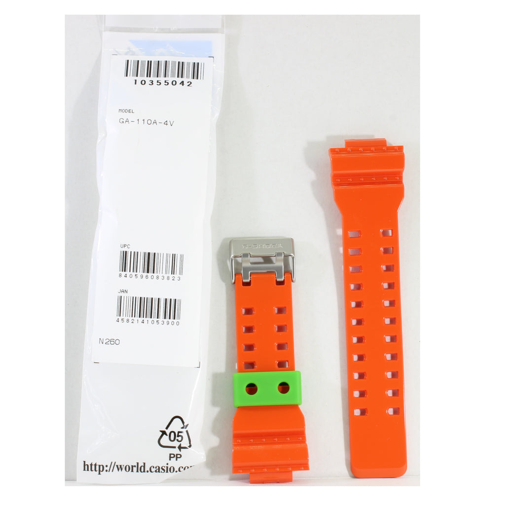 Casio G-Shock Shiny Orange Genuine Replacement Strap 10355042 to suit GA-110A-4A