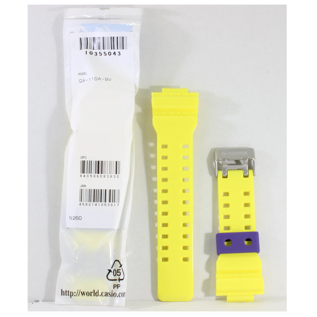 Casio G-Shock Shiny Yellow Genuine Replacement Strap 10355043 to suit GA110A-9