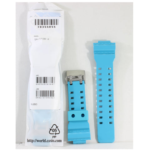 Casio G-Shock Shiny Blue Genuine Replacement Strap 10355055 to suit GA-110B-2A