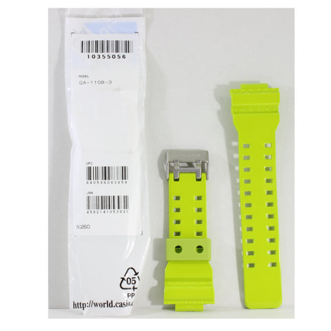 Casio G-Shock Shiny Green Genuine Replacement Strap 10355056 to suit GA-110B-3A