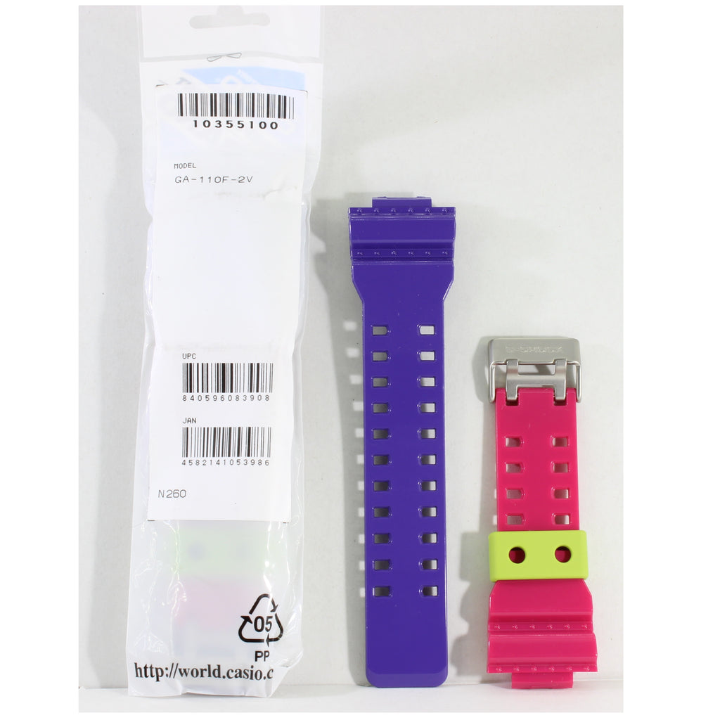 Casio G-Shock Shiny Purple Pink Genuine Replacement Strap 10355100 to suit GA-110F-2A
