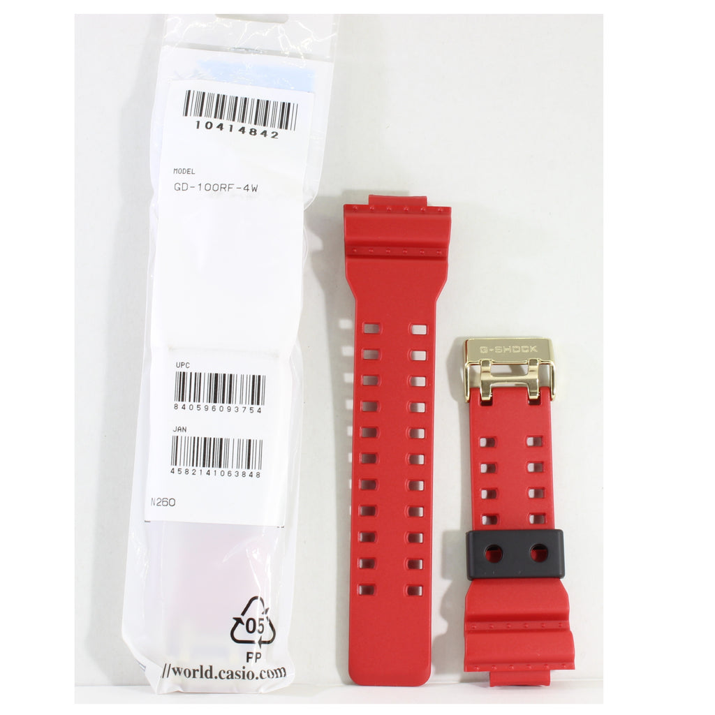 Casio G-Shock Shiny Red Genuine Replacement Strap 10414842 to suit GD-100RF-4
