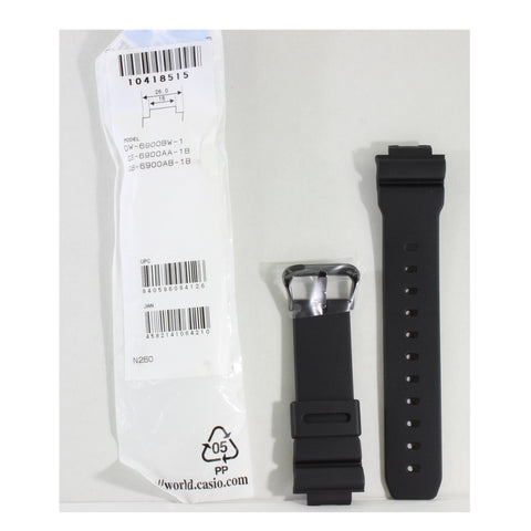 Casio G-Shock Matte Black Genuine Replacement Strap 10418515 to suit DW-6900BW-1