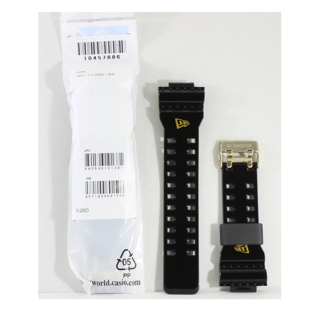 Casio G-Shock Shiny Black Genuine Replacement Strap 10457866 to suit GA-110NE-9A New Era