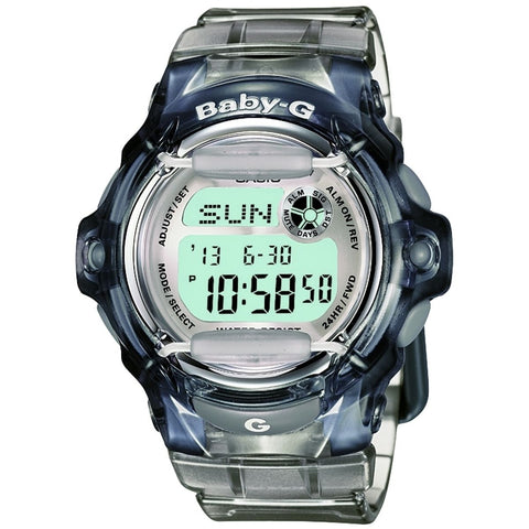 Casio Baby-G BG-169R-8 Transparent Grey Women's Digital Sports Watch