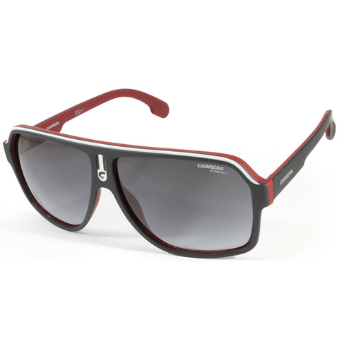 Carrera 1001/S BLX 9O Matte Black on Red/Grey Gradient Men's Sunglasses