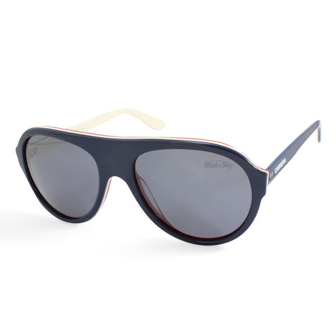 Carrera 84/S Navy on White/Grey Polarised Aviator Sunglasses 8W3 W7