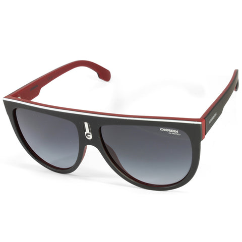 Carrera Flagtop BLX 9O Matte Black on Red/Grey Gradient Women's Sunglasses