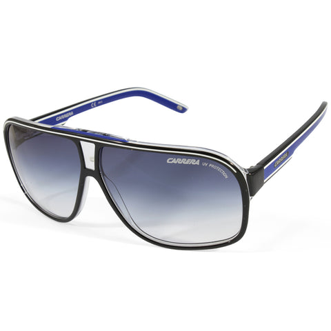 Carrera Grand Prix 2 T5C 08 Polished Black on Clear/Blue Gradient Men's Sunglasses