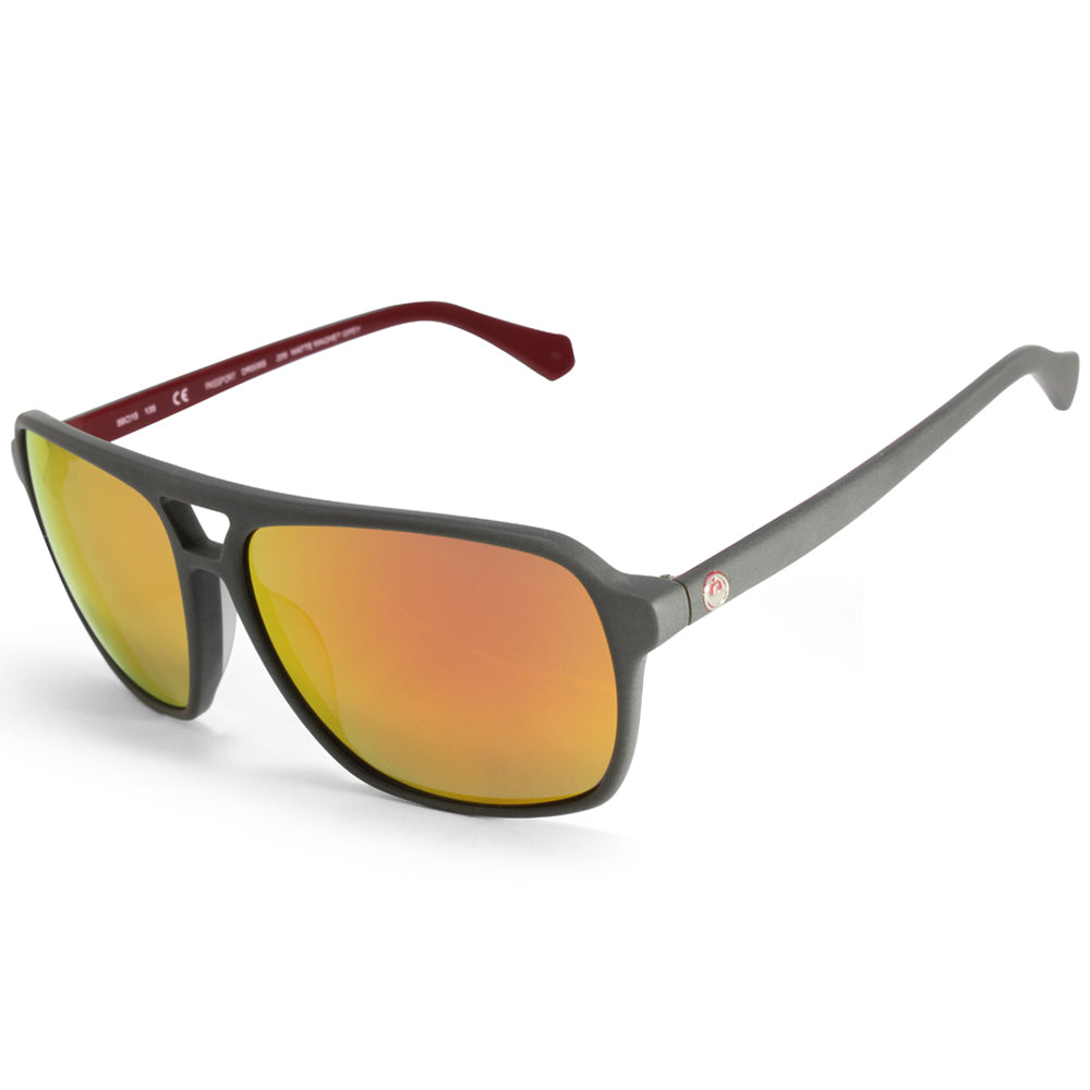 Dragon Passport DR508S 209 Matte Grey/Orange Mirror Sunglasses