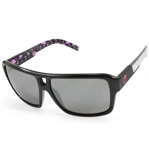 Dragon The Jam 720-2155 Polished Black Flamingo/Grey Ion Unisex Sunglasses