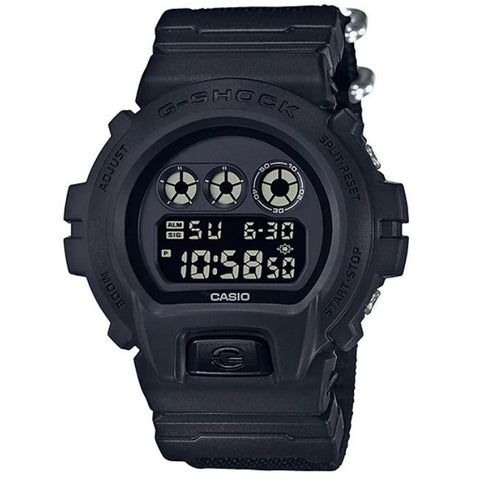 Casio G-Shock DW-6900BBN-1 Black Cordura Fabric Strap Mens Digital Watch