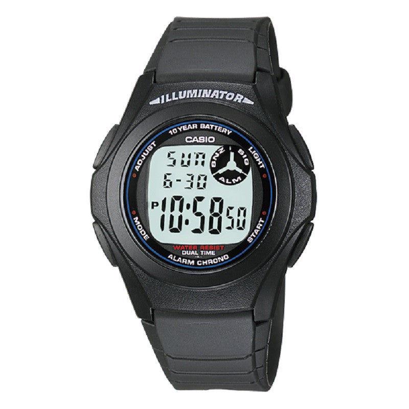Casio F-200W-1A Black Illuminator Digital Sports Watch