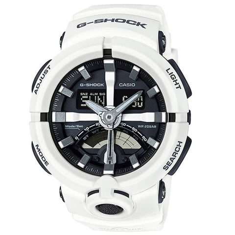 Casio G-Shock GA-500-7A White Dual Coil Men's Digital Analog Sports Watch