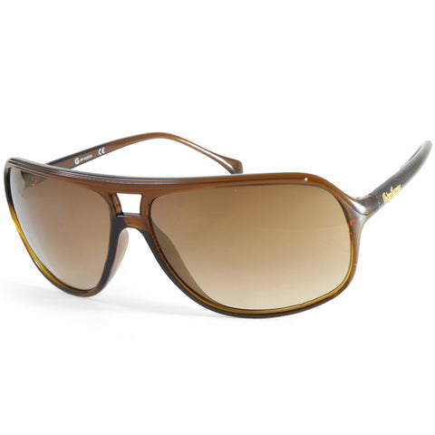 G By Guess GG2056 Light Brown Transparent/Brown Gradient Men's Aviation Sunglasses