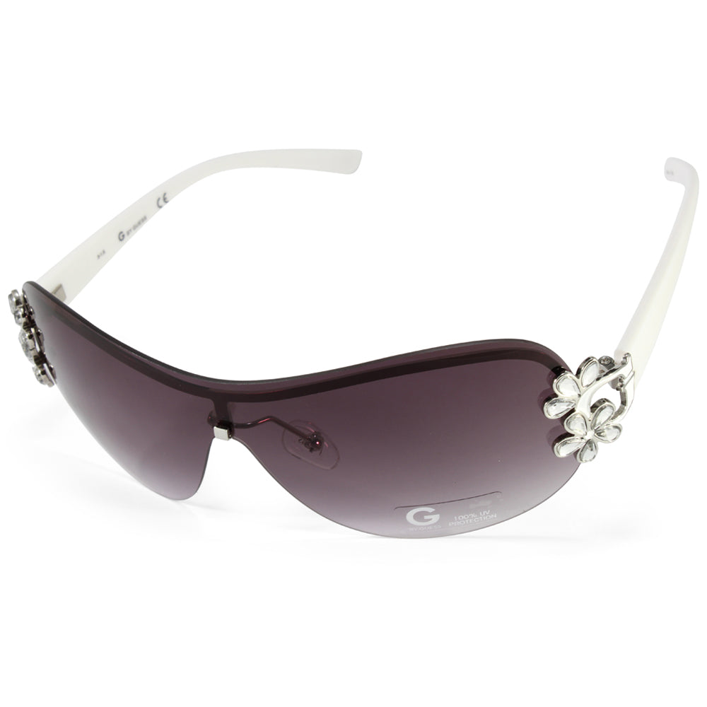 23f061f31508a G by Guess GGU1111 White Grey Gradient Women s Shield Sunglasses ...