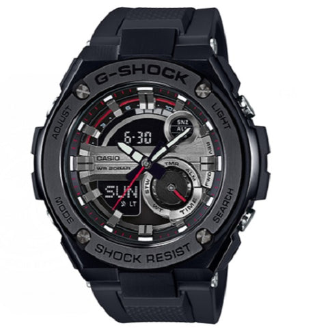 Casio G-Shock G-Steel GST-210B-1A Black Digital Analog Men's Sports Watch