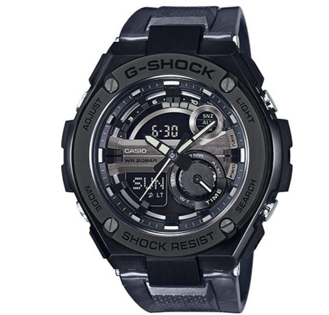 Casio G-Shock G-Steel GST-210M-1A Black Digital Analog Men's Sports Watch