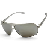 Guess GU6512 Polished Silver Mirror Lens Men's Metal Sunglasses
