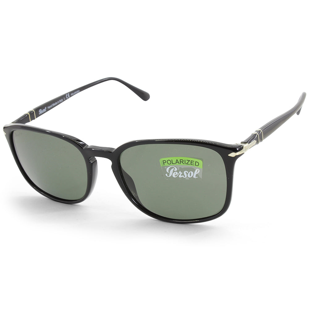 a3003c2992291 Persol PO3158S 95 58 Black Green Men s Polarised Sunglasses – xTrend