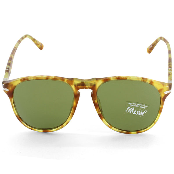 7a439207c64e6 Persol PO6649S 10614E Yellow Tortoise Green Men s Pilot Sunglasses – xTrend