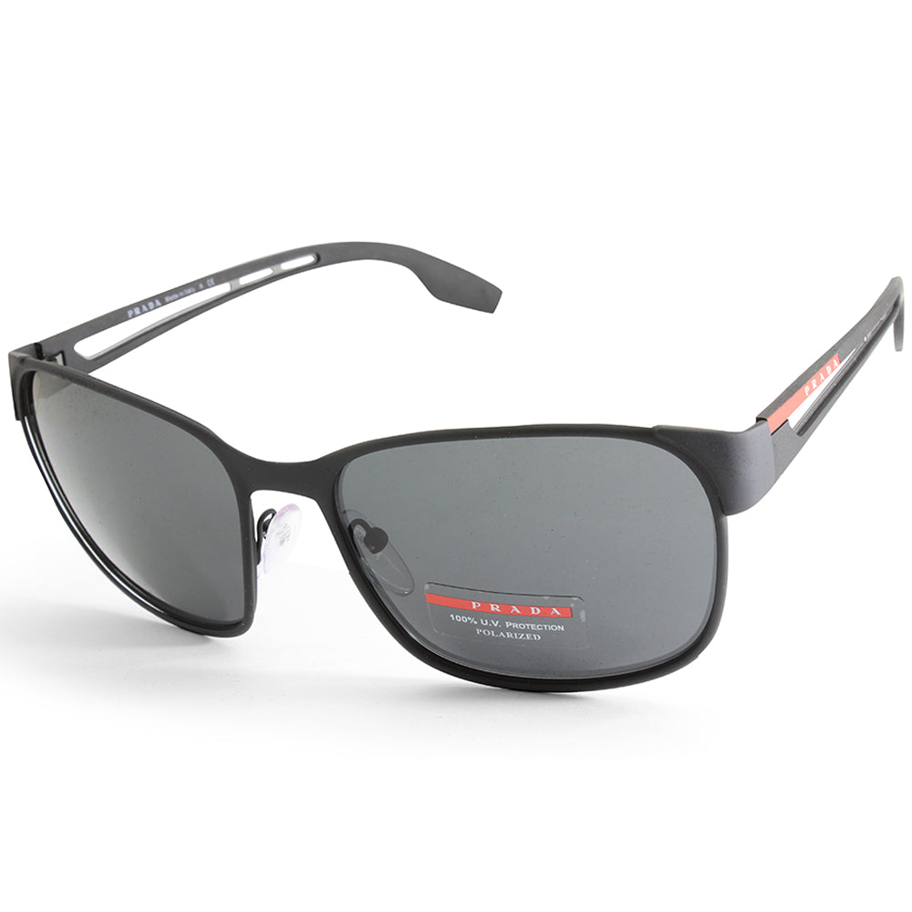e2536369e788 Prada Sport PS 52TS DG05S0 Matte Black Grey Men s Sport Sunglasses ...