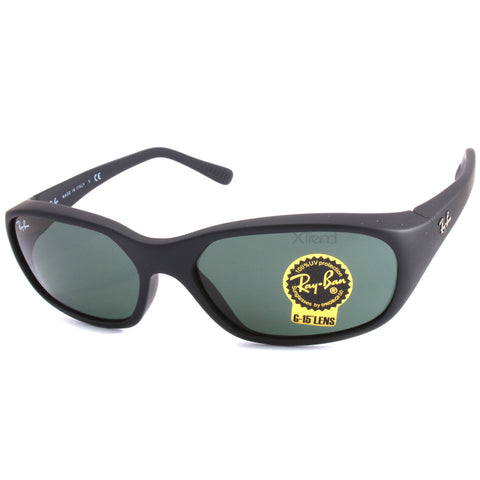 Ray-Ban RB2016 W2578 Daddy-O Matte Black/Green G15 Men's Sunglasses