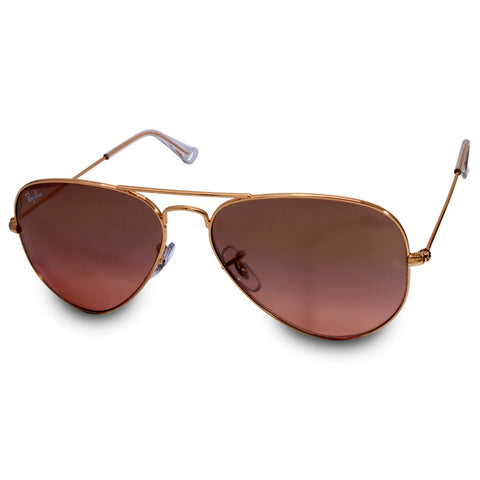 Ray-Ban RB3025 001/3E Aviator Gold/Brown-Pink Mirror Sunglasses