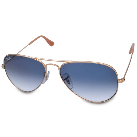 Ray-Ban RB3025 001/3F Aviator Gold/Light Blue Gradient Sunglasses