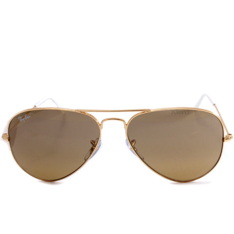 0af5295b37 ... Ray-Ban RB3025 001 3K Aviator Gradient Gold Brown-Silver Sunglasses ...