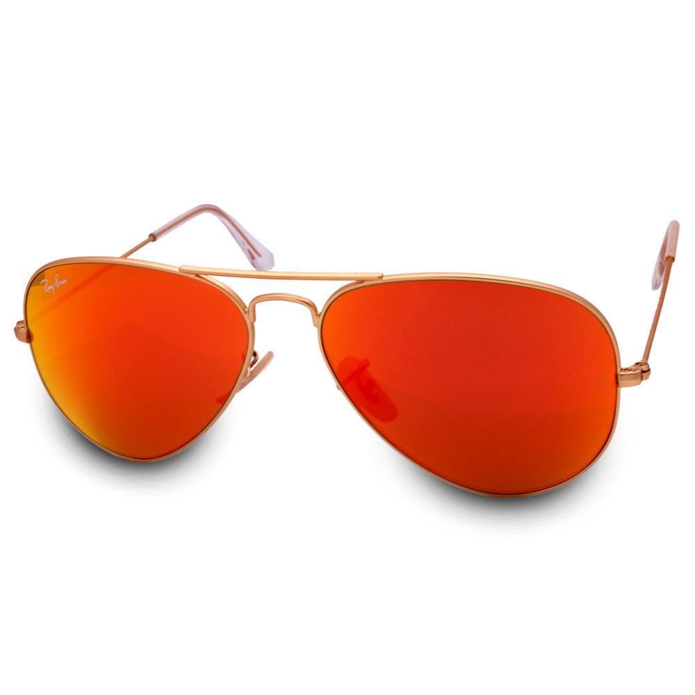 6a1932a859e Ray-Ban. Ray-Ban RB3025 112 69 Aviator Gold Orange Mirror Sunglasses. Size.  55