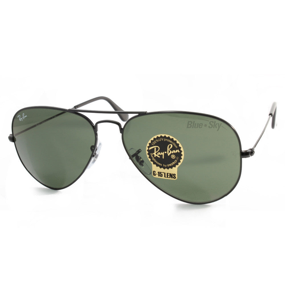 Ray-Ban RB3025 L2823 Aviator Black/Green Sunglasses