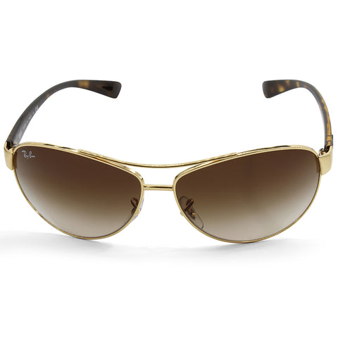 94060edc92 ... Ray-Ban RB3386 001 13 Polished Gold Brown Gradient Men s Metal  Sunglasses ...