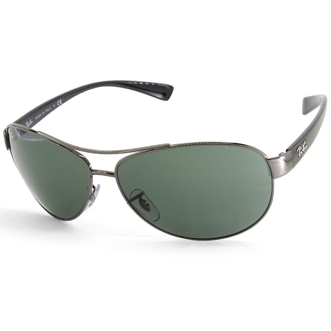 4d5006621d Sale Ray-Ban RB3386 004 71 Gunmetal Green Men s Metal Sunglasses