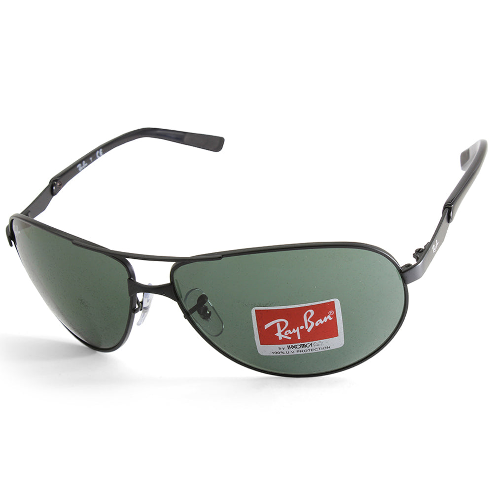 b1c77eed7e2 Ray-Ban. Ray-Ban RB3393 006 71 Matte Black Green Men s Metal Sunglasses ...