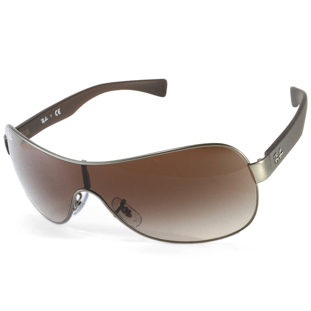 835b303ee8e Ray-Ban. Ray-Ban RB3471 029 13 Youngster Gunmetal Brown Gradient Shield  Sunglasses